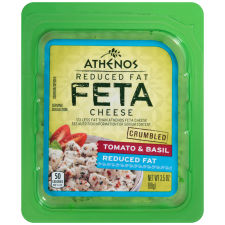 Athenos Crumbled Tomato & Basil Reduced Fat Feta Cheese 3.5 oz Blister Pack