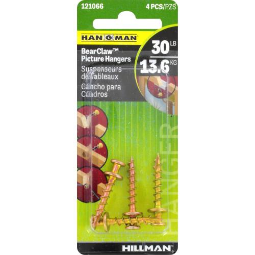 Hillman Hangman Bear Claw Gold Hangers 4 Pack 30lb