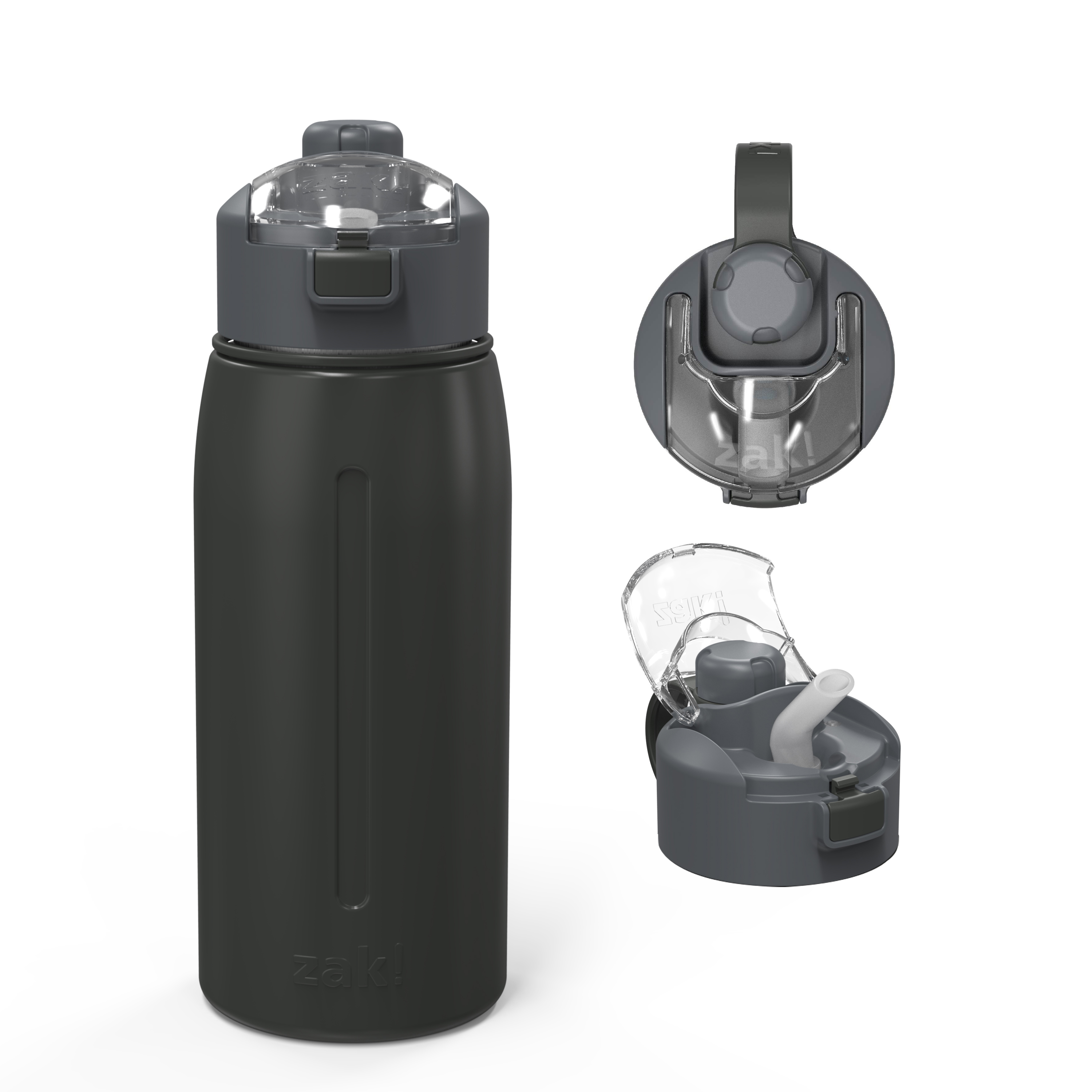 Genesis 24 ounce Vacuum Insulated Stainless Steel Tumbler, Charcoal slideshow image 2