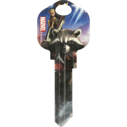 Marvel's Rocket and Groot Kwikset 66/97 KW1/10 Key Blank
