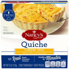 Nancy's Cheese Trio Quiche 6 oz Box