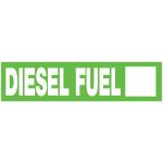 "Diesel Mylar Fuel Sign, 2"" x 8"""