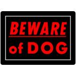 "Beware of Dog Sign (10"" x 14"")"