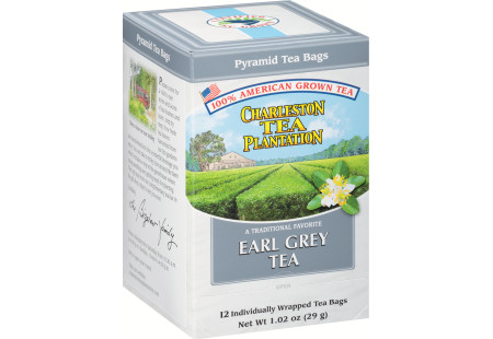Charleston Tea Earl Grey Pyramid Bags - Case of 6 boxes- total of 72 teabags