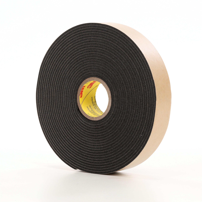 3M™ Double Coated Polyethylene Foam Tape 4496B, Black, 2 in x 36 yd, 62 mil, 6 rolls per case