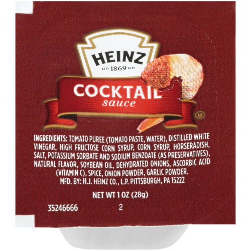 HEINZ Single Serve Cocktail Sauce, 1 oz. Cups (Pack of 100)