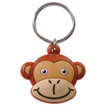 Monkey Head Key Chain