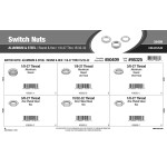 "Round & Hex Aluminum & Steel Switch Nuts Assortment (1/8""-27 thru 15/32""-32)"