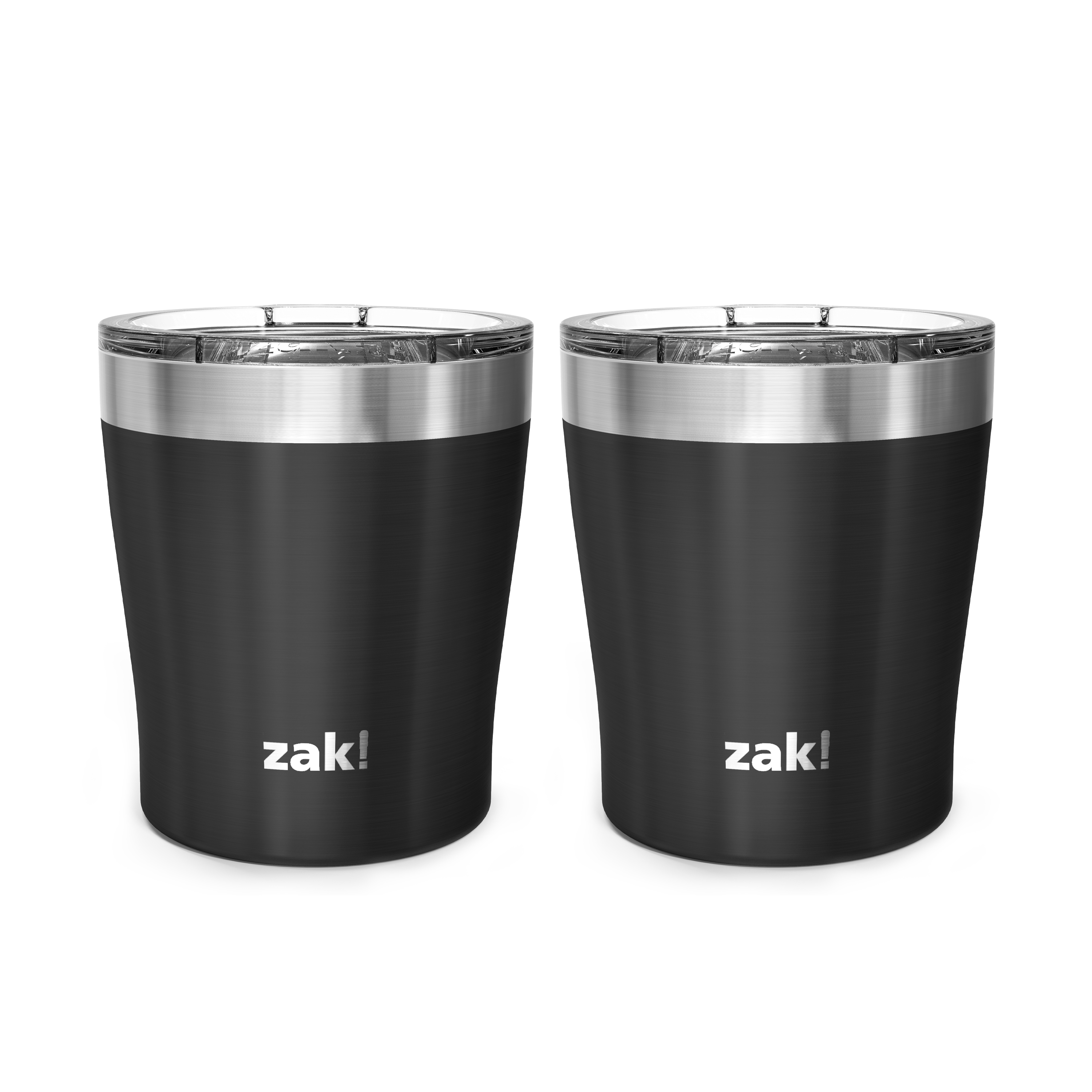 Dayton 10 ounce Vacuum Insulated Stainless Steel Tumbler, Black, 2-piece set slideshow image 2