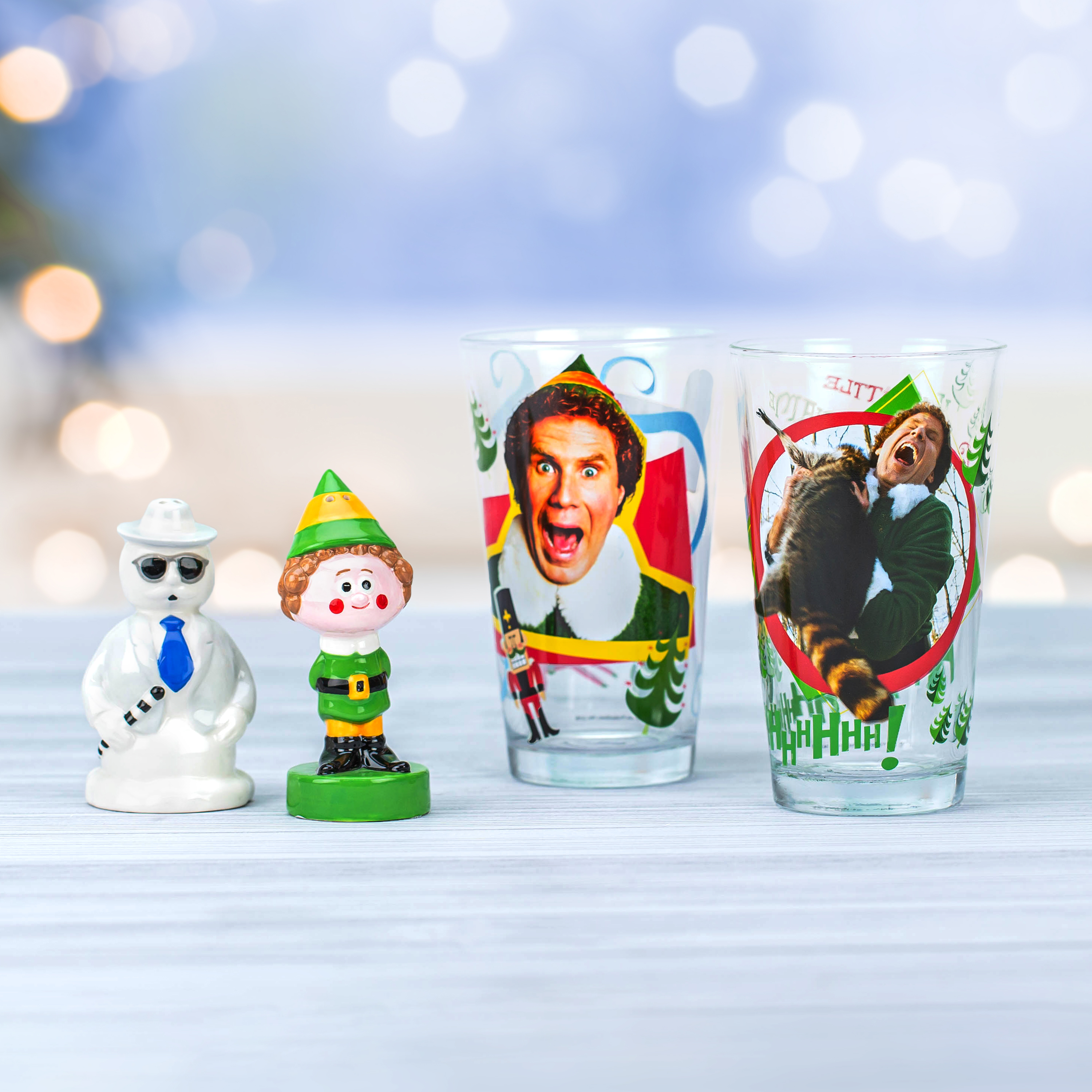 Christmas Collectibles Salt and Pepper Shaker Set, Elf & Snowman, 2-piece set slideshow image 8
