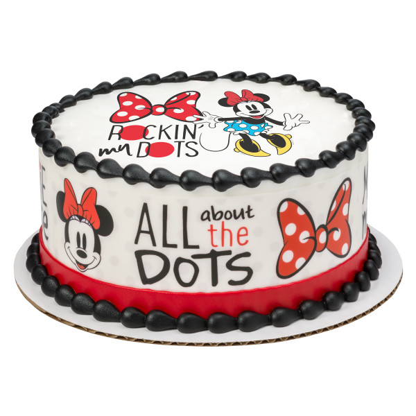 Mickey Mouse & Friends Minnie Rockin' My Dots PhotoCake® Edible Image®