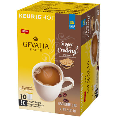 Gevalia Kaffe Sweet & Creamy S'mores Coffee Pods 10 count Box