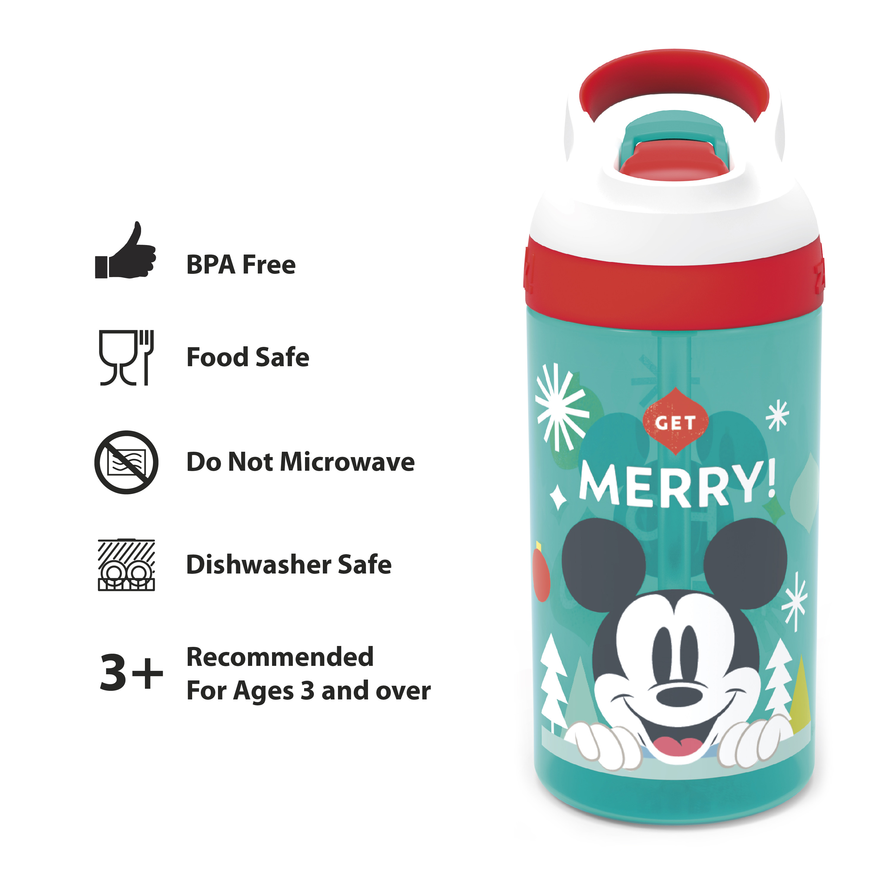 Disney 16 ounce Water Bottle, Mickey Mouse slideshow image 6