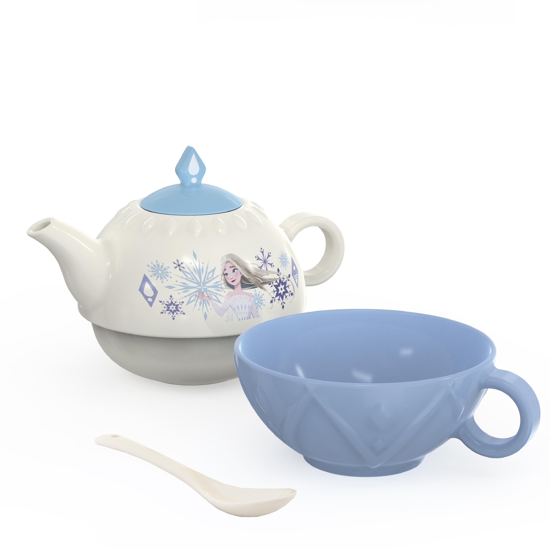 Disney Frozen 2 Movie Sculpted Ceramic Tea Set, Princess Elsa, 4-piece set slideshow image 7