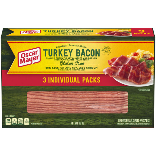 Oscar Mayer Turkey Bacon 36 oz Box
