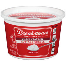 Breakstone's Large Curd 4% Milk fat Min Cottage Cheese 16 oz Tub