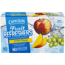 Capri Sun Fruit Refreshers Aloha Mango Juice Drink, 10 - 6 fl oz Pouches