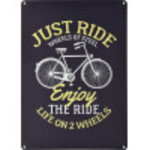 """Just Ride Novelty Sign (10"""" x 14"""")"""