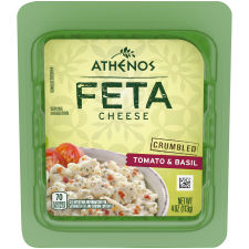Athenos Crumbled Tomato & Basil Feta Cheese 4 oz Blister Pack