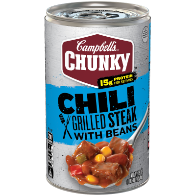 Grilled Steak with Beans Chili