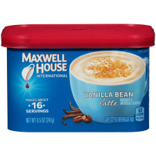 Maxwell House International Vanilla Bean Latte 8.5 oz Canister