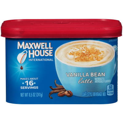 Maxwell House International Vanilla Bean Latte Beverage Mix, 8.5 oz Canister