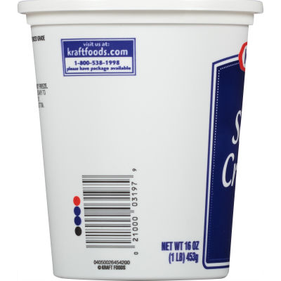 Kraft Natural Sour Cream 16 oz Tub