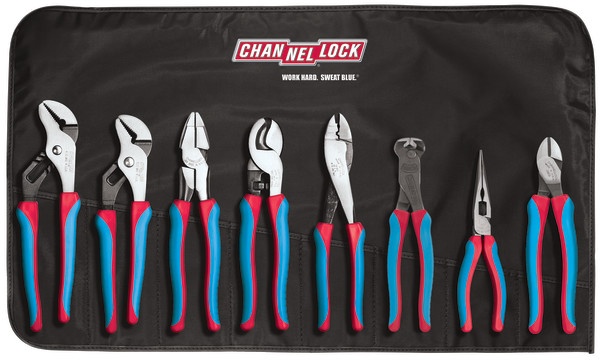 CBR-8 8pc Electrical Pliers Tool Set with Tool Roll