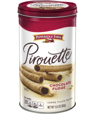 canister (14.1 ounces) Pepperidge Farm® Pirouette® Chocolate Fudge Rolled Wafers
