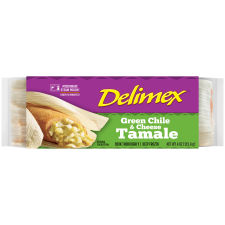 Delimex Green Chile & Cheese Tamale 4 oz Pouch