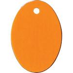 Orange Large Oval Quick-Tag
