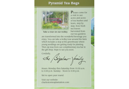 Front of Charleston Tea Green Tea Box
