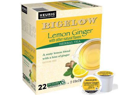 Lemon Ginger K-Cups - Case of 4 boxes - total of 88 k-cups