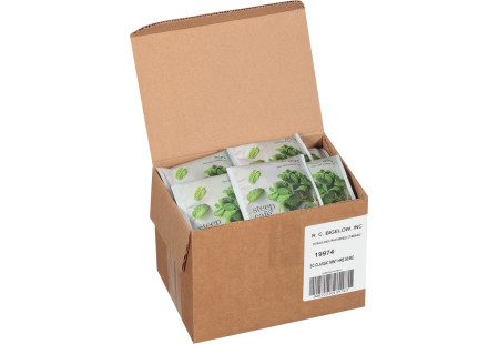steep cafe by Bigelow full leaf mint herbal tea pyramid bag in overwrap