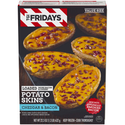 TGI Friday's Loaded Cheddar & Bacon Potato Skins 22.3 oz Box