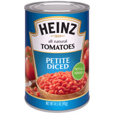 Heinz No Salt Added Petite Diced Tomatoes 14.5 oz Can