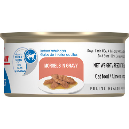 Indoor Adult Morsels in Gravy Canned Cat Food