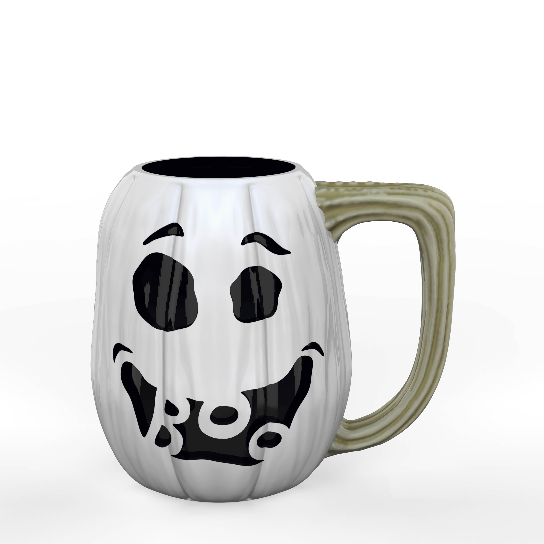 Halloween 15 ounce Coffee Mug and Spoon, Ghost Pumpkin slideshow image 6