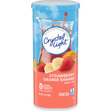 Crystal Light Lemonade Drink Mix, 6 Pitcher Packets, 2.4 oz Canister