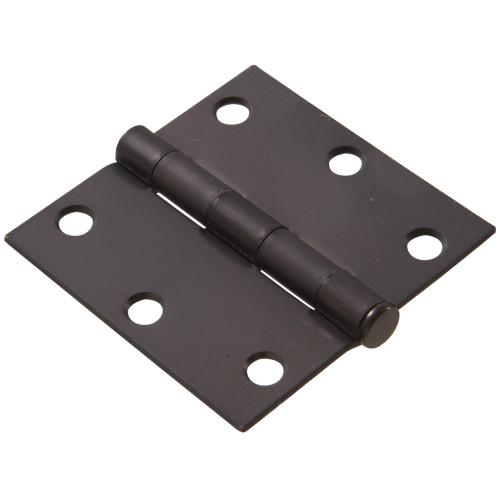 Hardware Essentials Square Corner Oil Rubbed Bronze Door Hinges (3