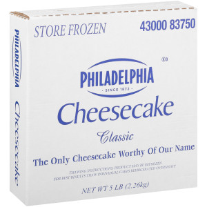 Philadelphia Plain Cheese Cake 80 oz Box image