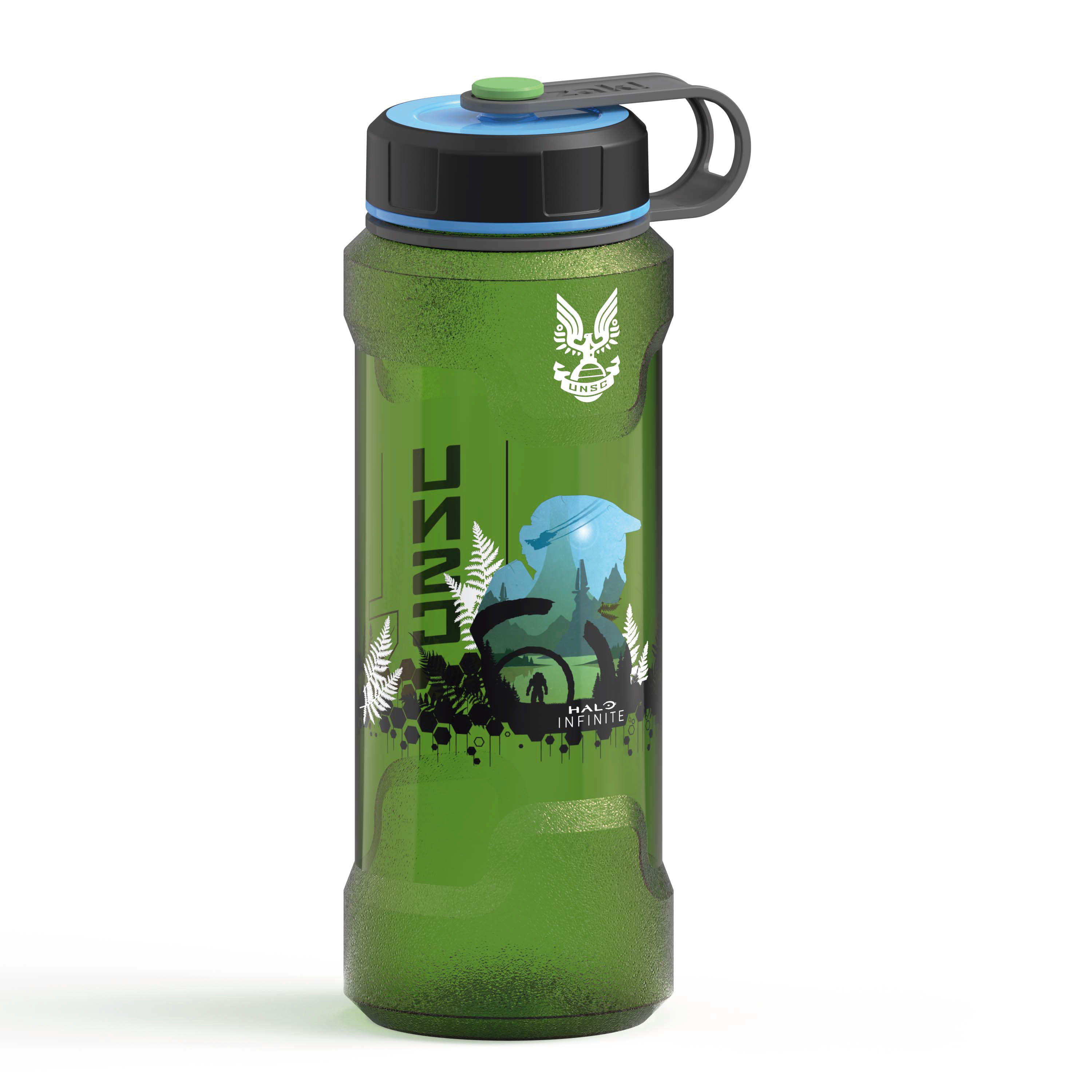 Halo 36 ounce Reusable Plastic Water Bottle, United Nations Space Command slideshow image 2
