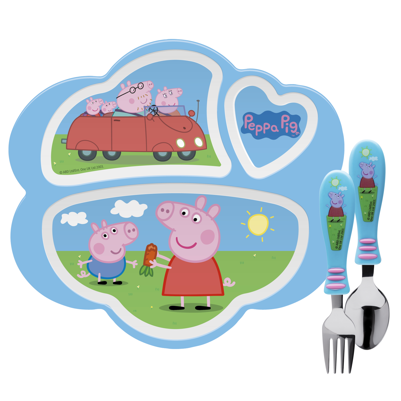Nick Jr. Kid's Dinnerware Set, Peppa Pig, 3-piece set slideshow image 1
