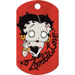 Betty Boop Zombie Love Large Military ID Quick-Tag