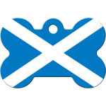 Scottish Flag Chrome Large Bone Quick-Tag