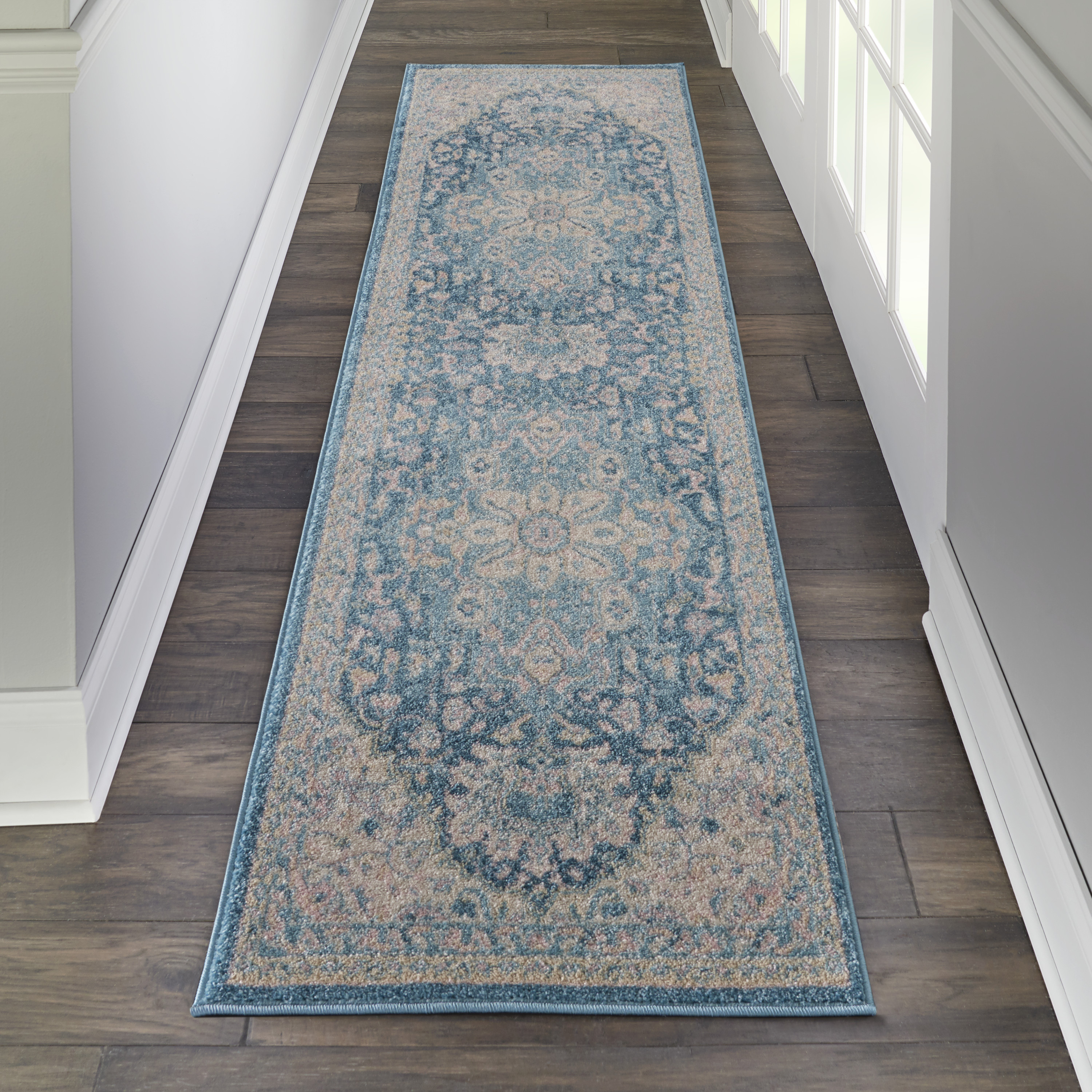 Nourison Tranquil TRA07 Ivory Turquoise Rug