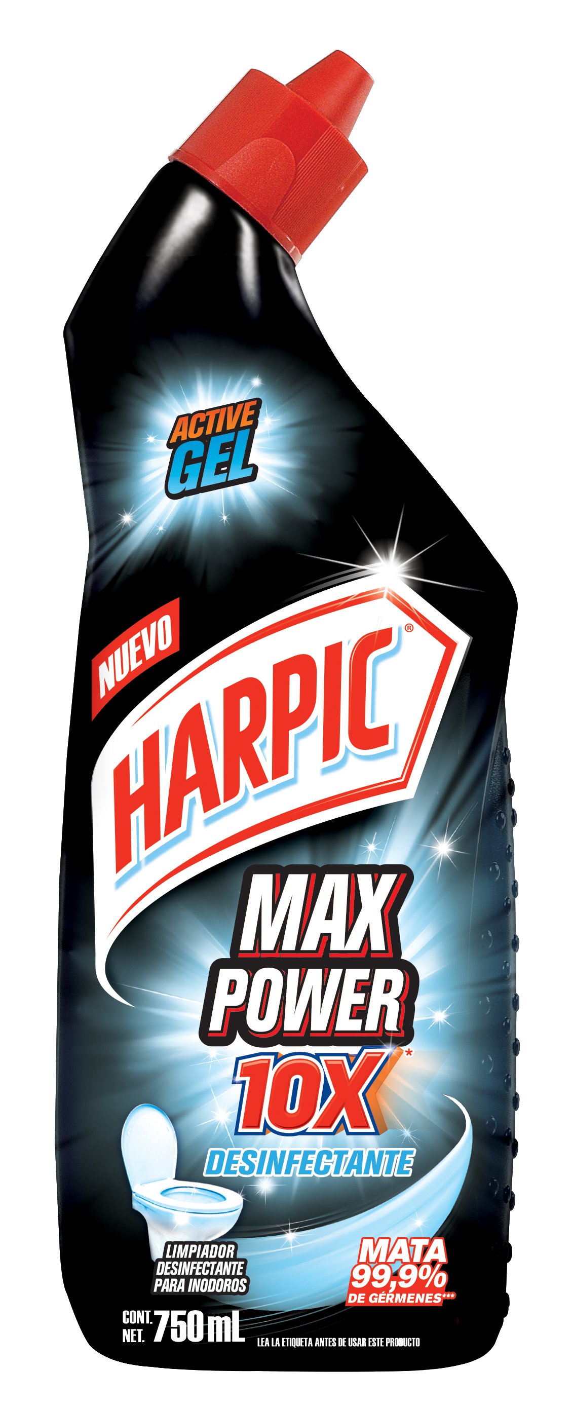 Harpic® MAX POWER 10X DESINFECTANTE, 750ml