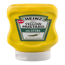 Heinz Spicy Yellow Mustard with Jalapeno 8 oz Bottle