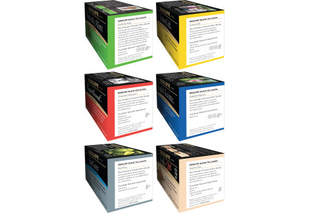 Ingredient panels of Mixed Case of 6 Boxes of a variety of Bigelow Black Teas