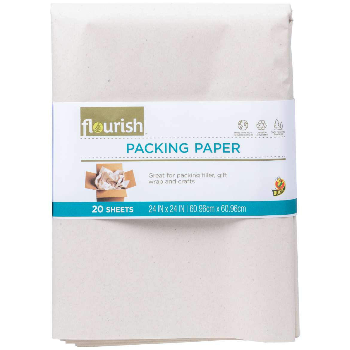 Flourish™ 100% Recycled Packing Paper Image